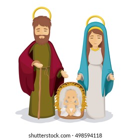 Mary and joseph with baby jesus design