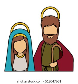Mary and joseph of holy night design