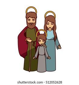 Mary joseph and jesus of holy night design