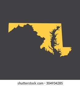 Maryland border,map. Vector illustration EPS8.
