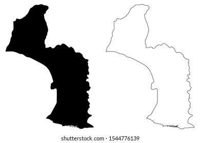 Maryland County (Republic of Liberia) map vector illustration