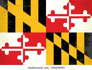 Maryland grunge flag. A grunge flag of Maryland for you