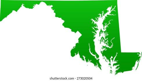 Maryland map