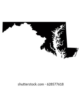 Maryland map, vector illustration