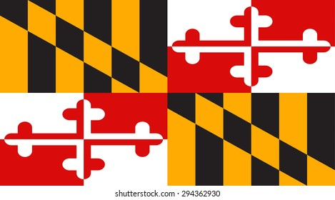 Maryland state national flag. Vector EPS8