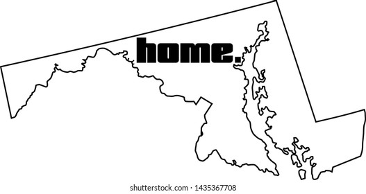 Maryland state vector, My roots, USA map, America, silhouette