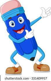Mascot Character of Pencil in cartoon