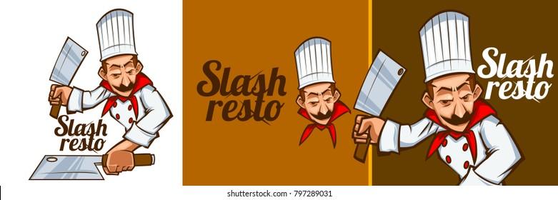 Mascot Chef Character logo illustration