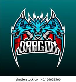 mascot dragon logo - e sport logo - mascot
