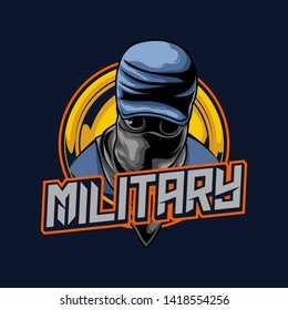 mascot gaming esport logo concept