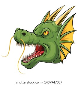 Mascot a head dragon cartoon