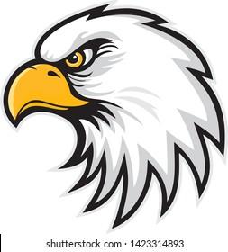 Mascot Head of an Eagle, vector illustration