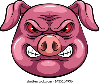 Mascot Head of an pig