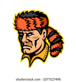 Mascot icon illustration of head of David