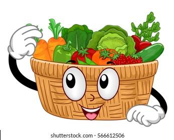 Cartoon Basket Images, Stock Photos & Vectors   Shutterstock