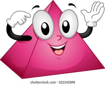 Mascot Illustration of a Happy Pyramid