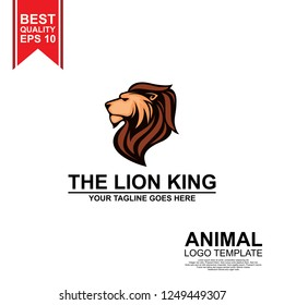 mascot lion king logo template