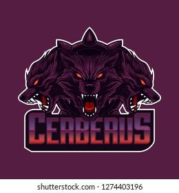 Mascot logo cerberus head