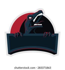 mascot logo design of angry raptor