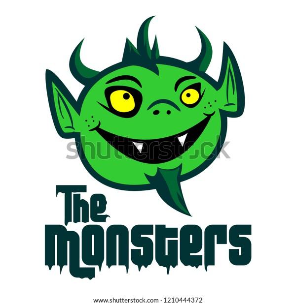 Mascot Monster Mascot Logo Vector Green Stock Vector