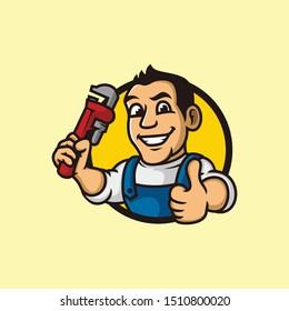 Mascot for Plum or Repair Company