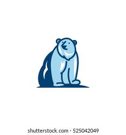 Mascot Polar Bear Logo Design Template