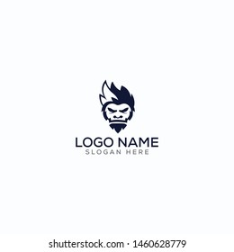 Mascot/yeti/ninja/ negative space logo design for use any purpose