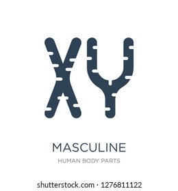 masculine chromosomes icon vector on white background, masculine chromosomes trendy filled icons from Human body parts collection, masculine chromosomes vector illustration