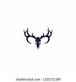 masculine deer skull logo