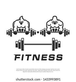 masculine gorilla vector logo for sports companies