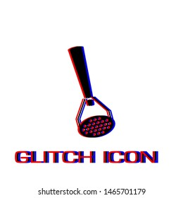 Masher icon flat. Simple pictogram - Glitch effect. Vector illustration symbol