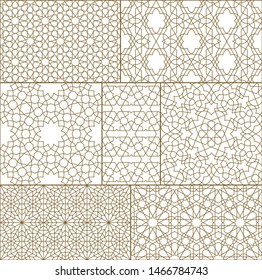 Mashrabiya pattern outline ideal for design background