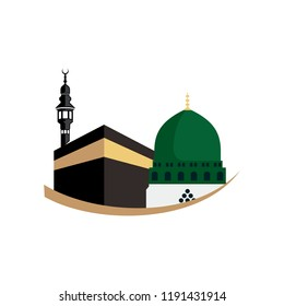 masjid nabawi dome stock vectors images vector art shutterstock https www shutterstock com image vector masjid al haram image vector 1191431914