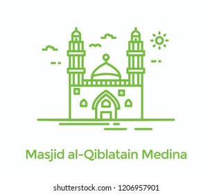 Masjid al qiblatain in madinah is mosque famous for two qiblas command