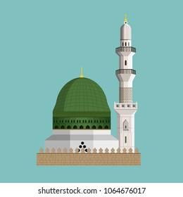 Masjid E Nabvi - Saudi Arabia - Mosque Vector Design
