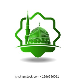 masjid nabawi vector images stock photos vectors shutterstock https www shutterstock com image vector masjid nabawi logo madina mosque shape 1366336061