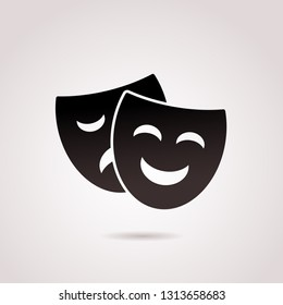 Mask, ancient, greek vector icon.