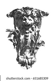 mask antique sketch