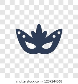 Mask for Brazil carnival celebration icon. Trendy Mask for Brazil carnival celebration logo concept on transparent background from Culture collection