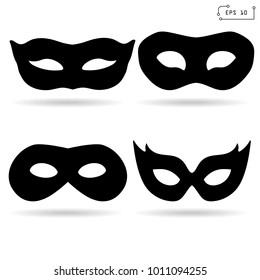 Mask carnival icon set, sign. Vector Illustration. EPS 10