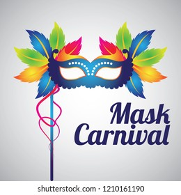 mask carnival for party decoration. vector illustration