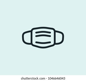Mask icon line isolated on clean background. Mask icon concept drawing icon line in modern style. Vector illustration for your web site mobile logo app UI design.