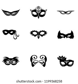 mask icon set vector