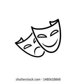 mask icon trendy flat design