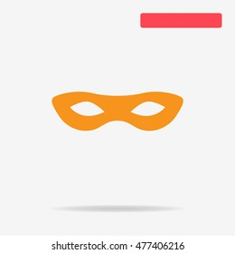 Mask icon. Vector concept illustration for design.