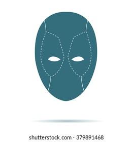 Mask icon vector isolated. Logo illustration.