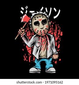 Mask Killer illustration for your aparel or business