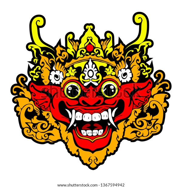 Mask Leak Bali Stock Vector Royalty Free 1367594942