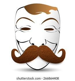 mask with a mustache