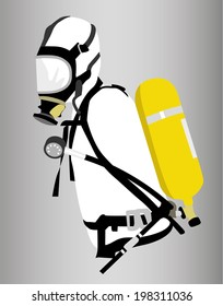 Mask and Oxygen Tank